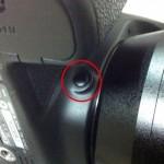 ファインダーでボケ具合がわかる絞りプレビューボタン