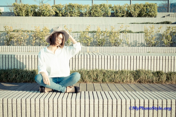 Model:吉岡由梨子,Camera:SONY α6000,Lens:Zeiss Batis 2/25
