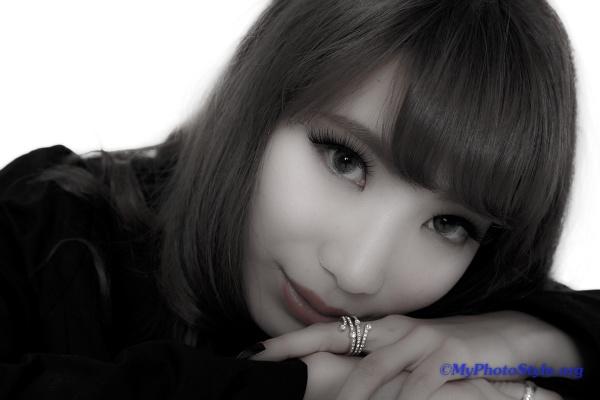 成美さんの宣材撮影